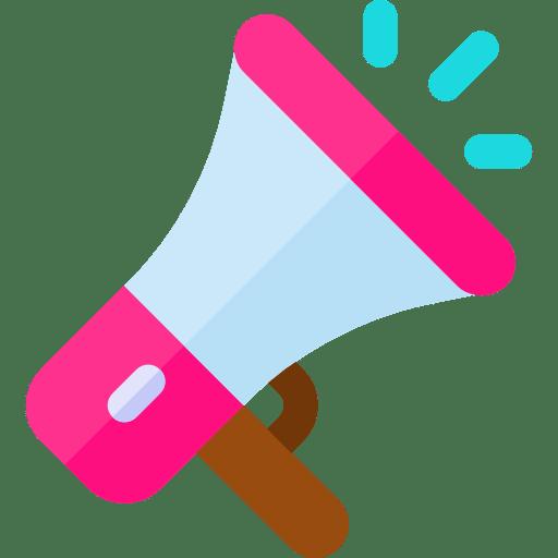 A pink bull horn