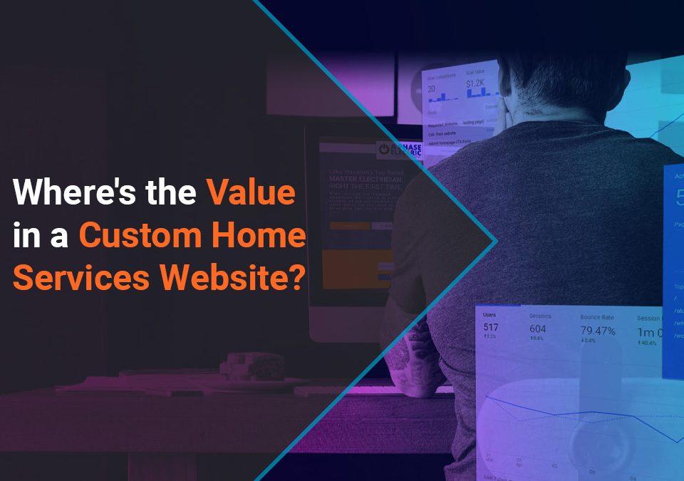 Custom Home Services Website
